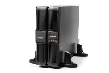 ups: uninterruptible power supply (ups) with reserve battery, isolated on white