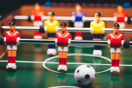 table football soccer game (kicker) Banco de Imagens