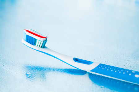 stripe: toothbrush with red stripe toothpaste