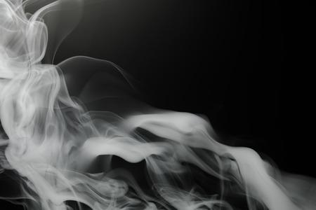 smoke background on black Foto de archivo