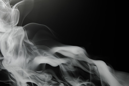 smoke background on black Banque d'images
