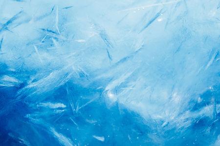 氷の背景、青の冷凍テクスチャ 写真素材