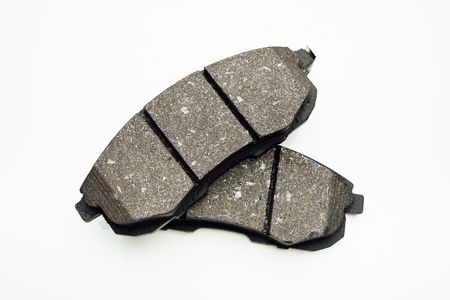 consumable: car brake pads, isolated on white Stock Photo