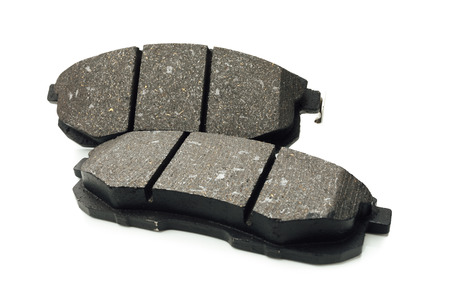 car brake pads, isolated on white 免版税图像