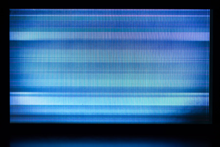 lcd display: glitch background of broken LCD display
