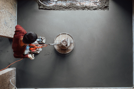 concrete floor final grinding, top view Banque d'images