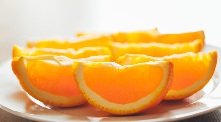 vitamin rich: fresh orange slices on a plate