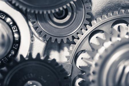 エンジン ギヤ車輪、産業の背景 写真素材