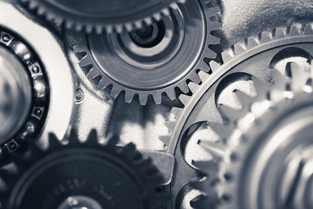 engine gear wheels, industrial background Stok Fotoğraf