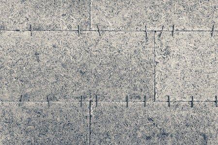 isolação de madeira da casa do molde concreto