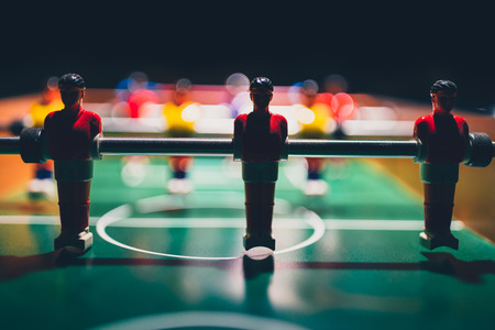table football soccer silhouette of game players (kicker)