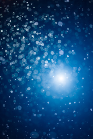 festive blue bokeh background