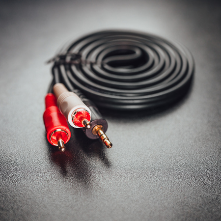 RCA mini jack audio cable Stock fotó - 108816906