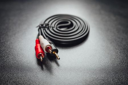 RCA mini jack audio cable Stock fotó - 108817158