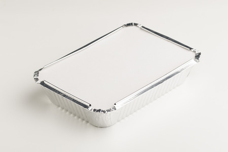 aluminum foil box container for hot food Фото со стока - 121849340