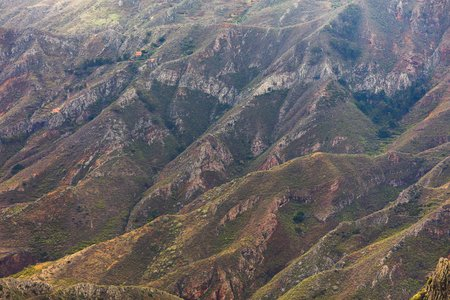 mountains in Anaga rural park, Tenerife