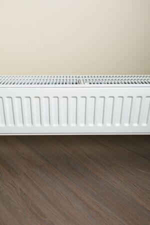 heating radiator in the living room Stock Photo
