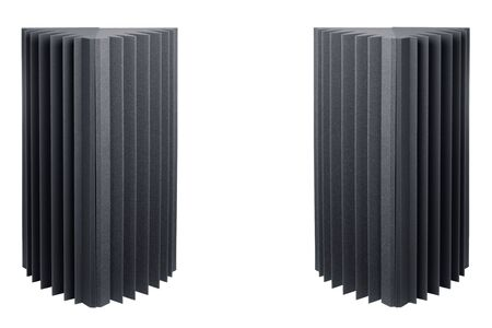 acoustic foam bass traps for sound dampering, isolated on white Stock Photo