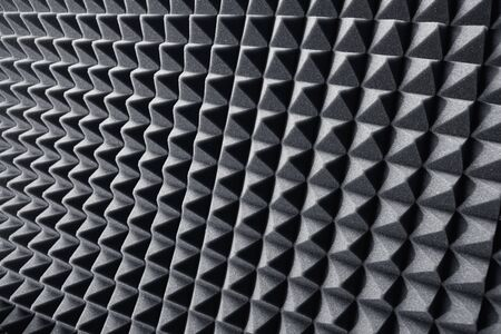 acoustic foam absorber for sound dampering background Stock Photo