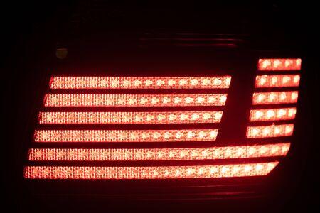red brake light, close-up view Stock fotó