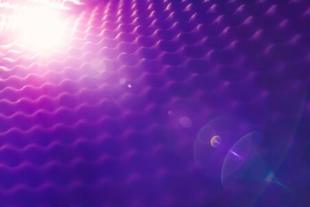 acoustic foam abstract background with glow light
