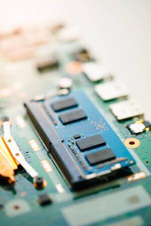 ram so-dimm ddr4 memory module, close-up view Archivio Fotografico