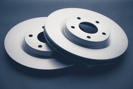 car brake discs on dark background Stock fotó