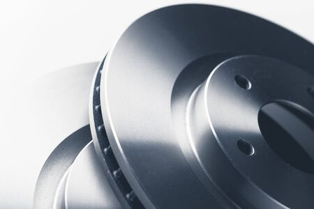 car brake discs, close-up view