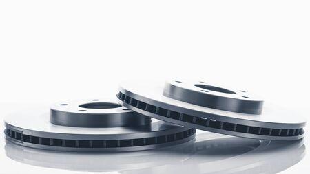 car brake discs on white background Stock fotó
