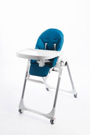 high chair for baby feeding, isolated on white