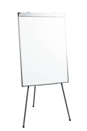 presentation flipchart easel stand board, isolated on white