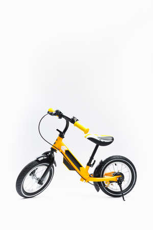 balance bike on white background
