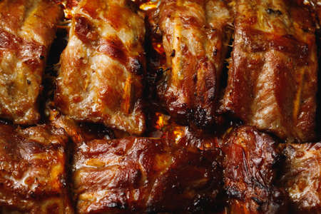baked barbeque pork ribs in the oven