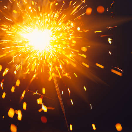 fire sparkler glow, abstract Christmas firework background