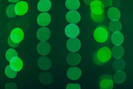 green led light bokeh background