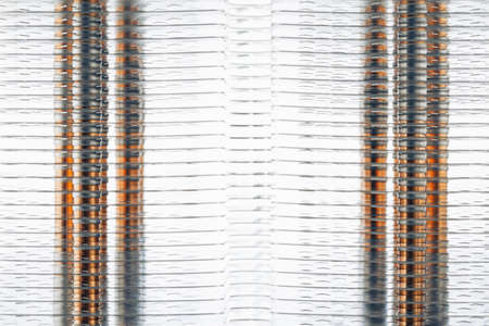 heat sink of cpu tower air cooler, close-up view