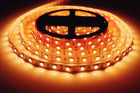 led strip orange light roll Banque d'images