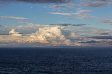 nsw: Huge Cloudfront on the Ocean. Byron Bay, NSW, Australia Stock Photo