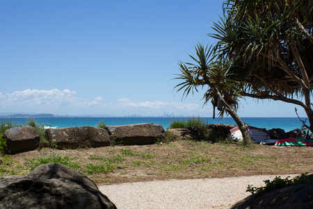 tweet: Shot from Tweet Heads, Queensland, Australia looking straight at the Goldcoast-Surfersparadise skyline.