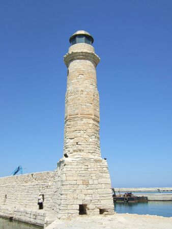 rethymno: Lighthouse in Rethymno, Greece