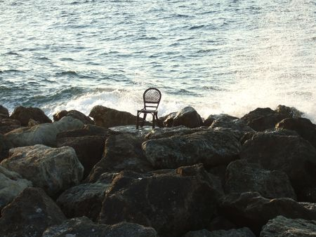 Lonely chair Stock Photo