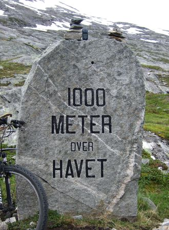 1000 m above sea. Dalsnibba mountain plateau