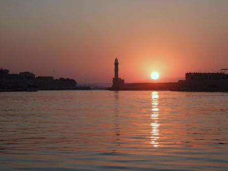 Sunset in Chania, Greece