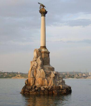 The Monument to the scuttled ships. Sevastopol, Ukraine