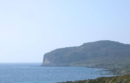 Sea view in Crete Stock Photo
