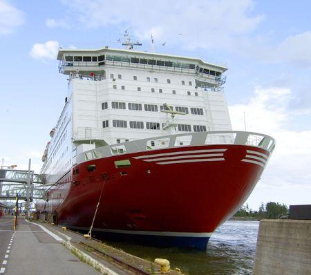 Moored ferry in Helsinki