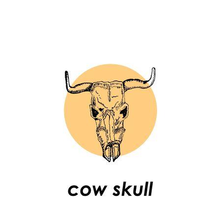 Vector illustration of a cow skull Illustration