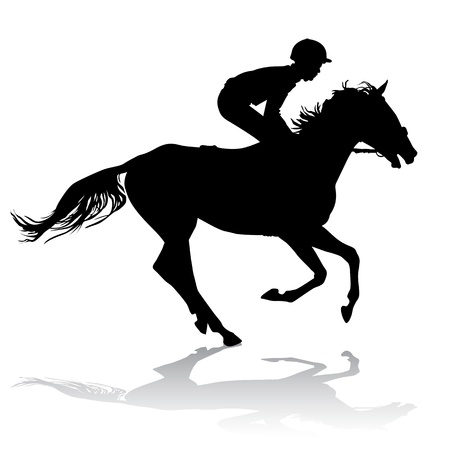 horse riding: Jockey riding a horse. Horse races. Competition.