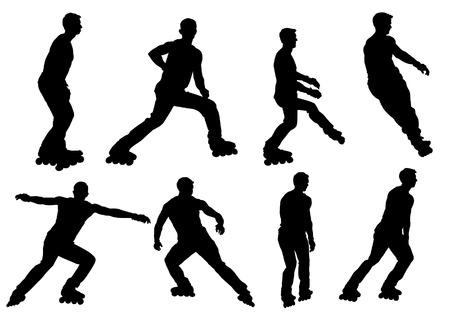 roller skating: boy on roller skates, hobbies, entertainment, recreation