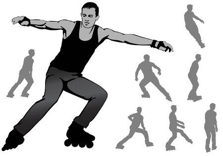 niño saltando: chico en patines, aficiones, entretenimiento, recreación